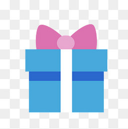 蓝色情人节礼物盒免扣图标