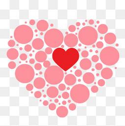 情人节爱心爱情矢量心形组合装饰
