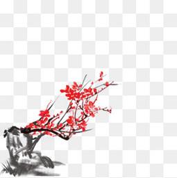 水墨中国风古风梅花