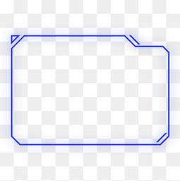 科技感外发光几何方形