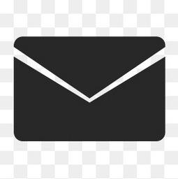 黑色纸质剪影邮件小图标