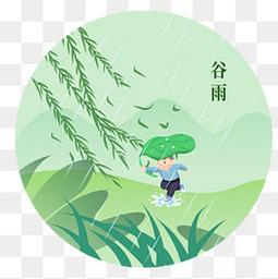 中国传统节气谷雨元素