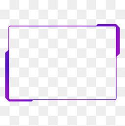 蓝紫色渐变发光现代几何方形科技