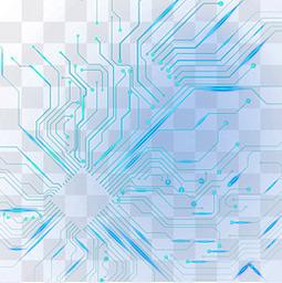 蓝色科技电子元件电路光效