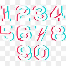 抖音样式数字设计