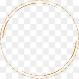 卡通水墨科技感抽象圆圈