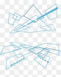 几何线条科技背景