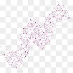 紫色科技线条背景矢量素材