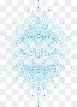 蓝色科技线条背景矢量素材