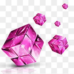 水晶魔方科技装饰免抠素材