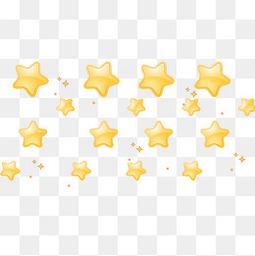 黄色卡通星星装饰图案