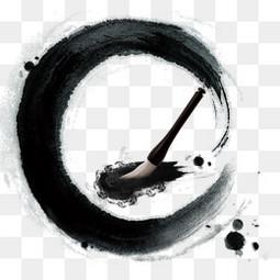黑色圆形墨迹