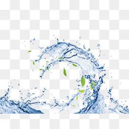蓝色素材水花元素  护肤梦幻水花水滴