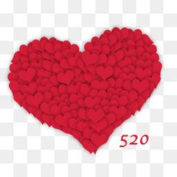 520情人节堆积爱心元素