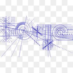 水墨梅花素材写意水墨素材  几何科技线条