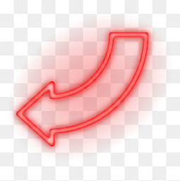 红色霓虹灯箭头