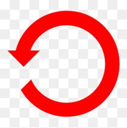 360度逆时针旋转箭头图标