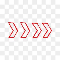 红色铅笔卡通手绘箭头矢量