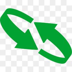 绿色立体质感旋转箭头