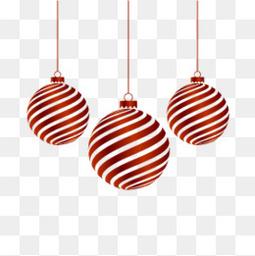 圣诞元旦红色圆球