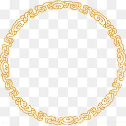 黄色中国风祥云边框纹理