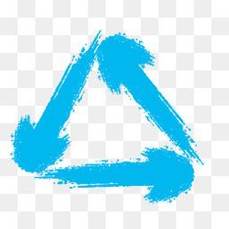 蓝色水墨箭头46design