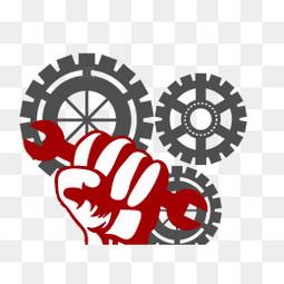 五一劳动节齿轮元素