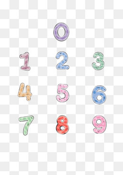 彩色水彩手绘数字设计