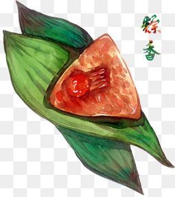 端午节手绘水彩粽子元素