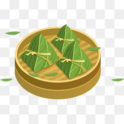 端午节卡通手绘蒸笼粽子元素