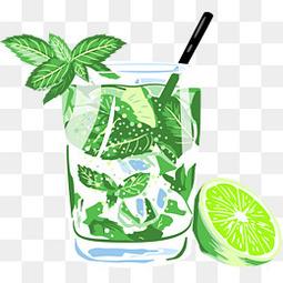 手绘夏日清凉饮料