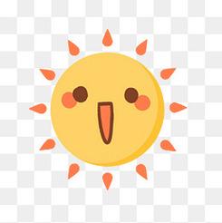 卡通可爱太阳元素
