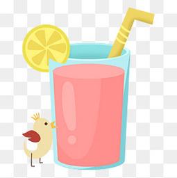 夏天卡通饮料元素