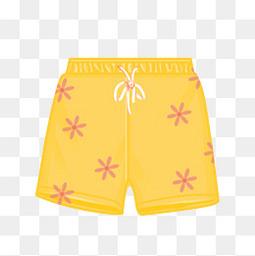 夏天小清新泳裤元素