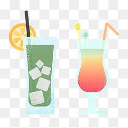 夏天小清新饮料元素