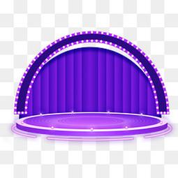 紫色炫酷舞台效果元素