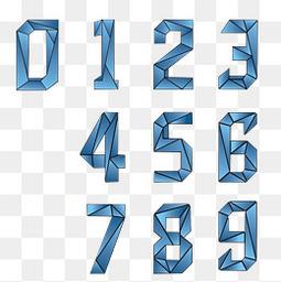 蓝色的数字设计