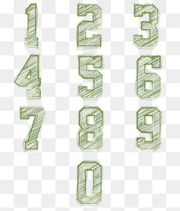 绿色黑板字样式数字设计