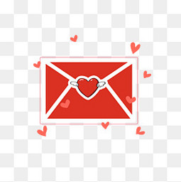 爱心主题信封情人节520表白情书
