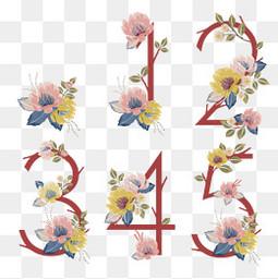 花卉装饰数字设计