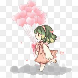情人节卖气球的小女孩