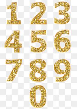 金色的数字设计矢量图
