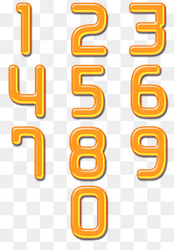 橙色的数字设计