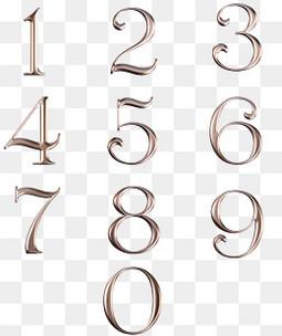 棕色的数字设计