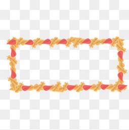手绘秋季的落叶边框