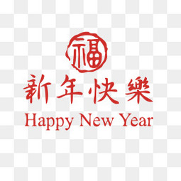 新年快乐创意个性福字