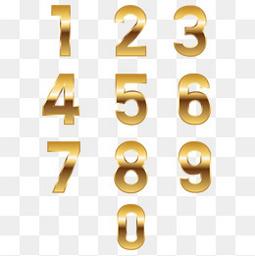 金色的精致数字设计