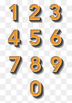 创意橙色立体数字设计