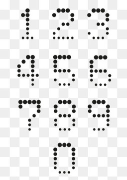 黑色圆形组合的数字设计