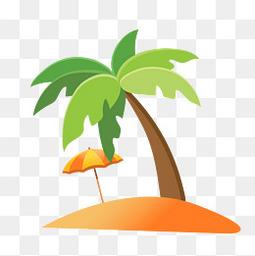 夏天暑假大海夏季椰子树免扣素材